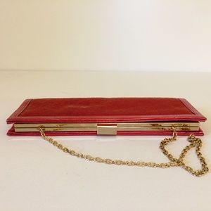Scarlet Red Evening Sequenced Clutch